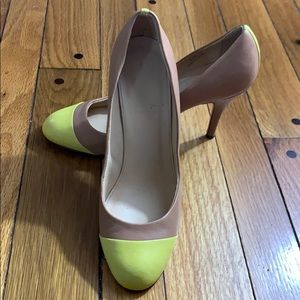 J Crew Two Tone Pumps (Tan & Yellow) - Size 9-1/2